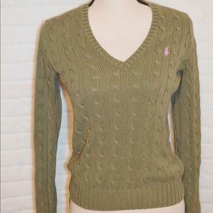Ralph Lauren Sport Sweater Size Small Army Green